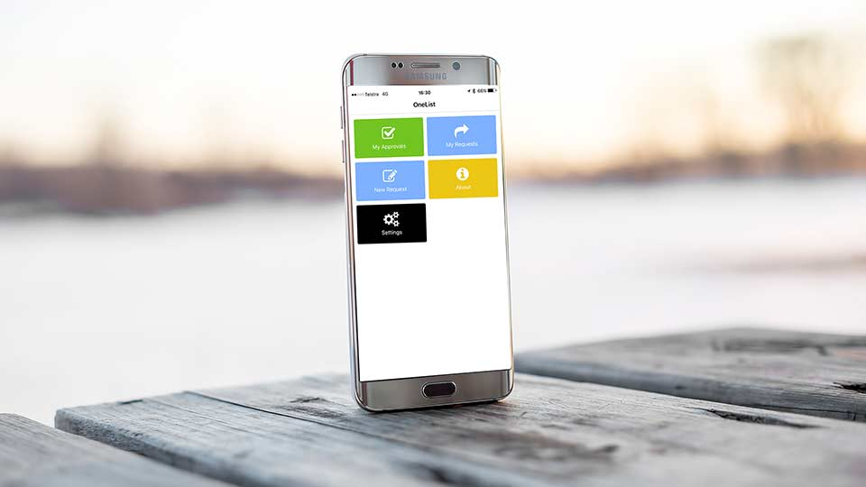 OneList approve tasks anytime anywhere