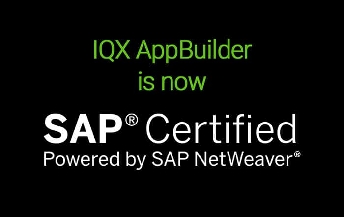 IQXAppBuilder Powered by SAP NetWeaver