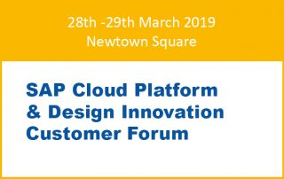 SAP Cloud Platform & Design Innovation Customer Forum Newtown