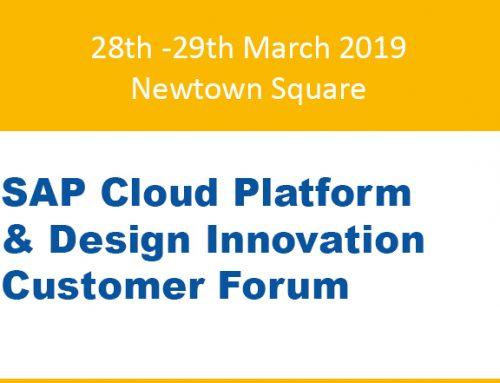 SAP Cloud Platform & Design Forum Newtown Square