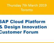 SAP Cloud Forum Toronto 2019