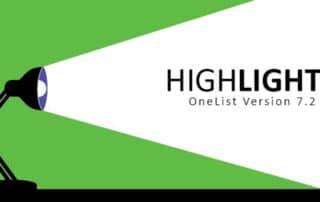 OneList V7.2 Highlights
